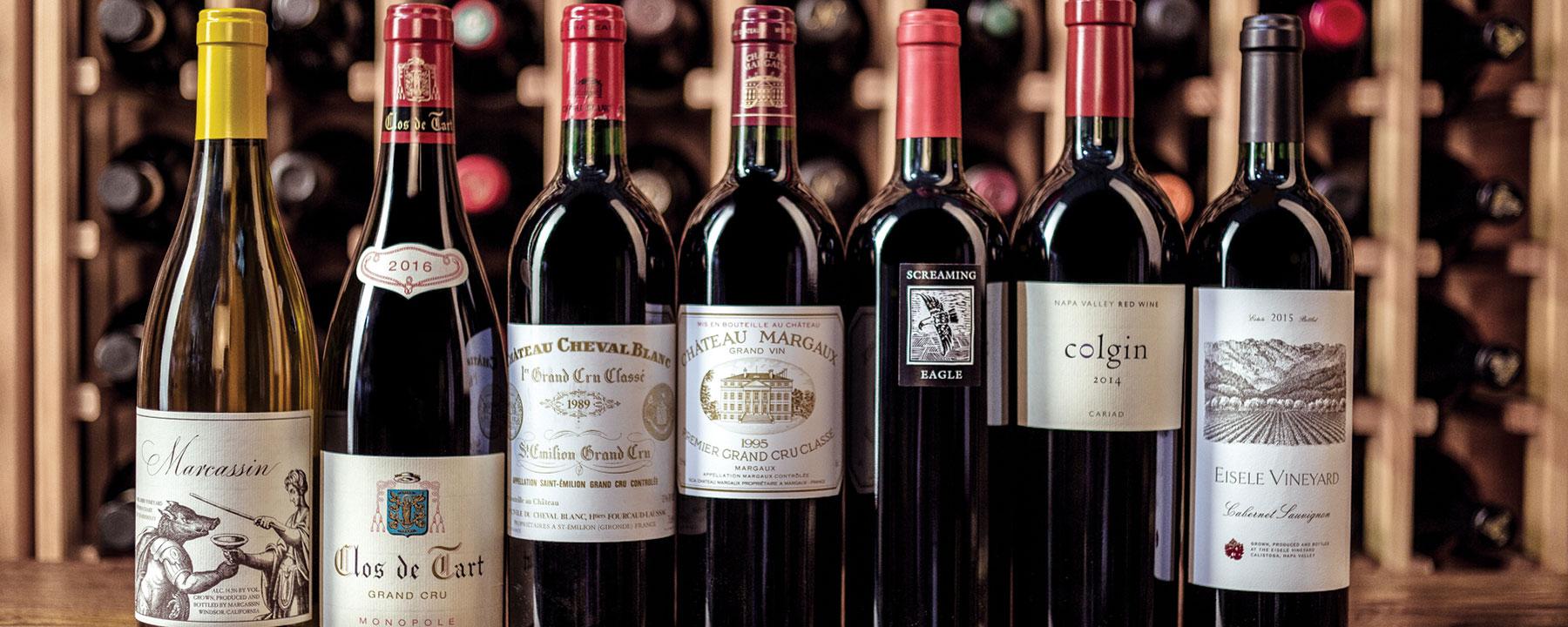 7 bottles of wine from porthos