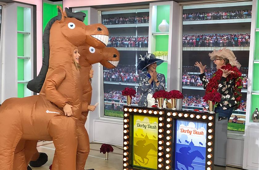 Kentucky Derby Dash on TODAY with Hoda & Jenna