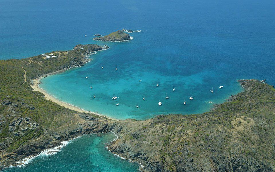 Carribbean Island Top View